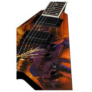 Dean V Dave Mustaine Electric Guitar, Peace Sells Close