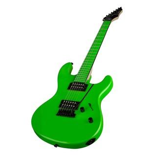 Dean Custom Zone Electric Guitar, Neon Green Slant
