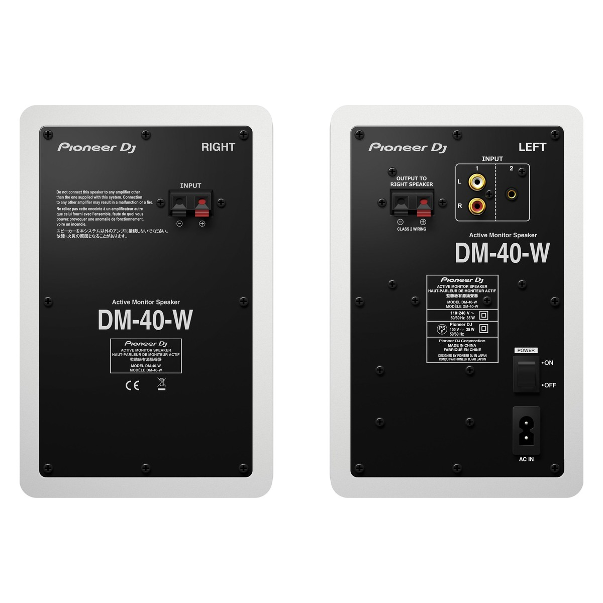 pioneer dm 40 active monitor speakers pair box opened at gear4music rh gear4music com 4 Ohm Speaker Wiring Parallel Speaker Wiring