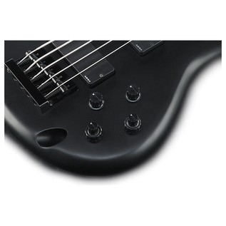 Ibanez K5 Fieldy 5 String, Black Flat controls