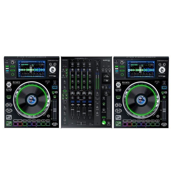 Denon DJ Prime Series Bundle, 2 x SC5000 Players, X1800 Mixer Main