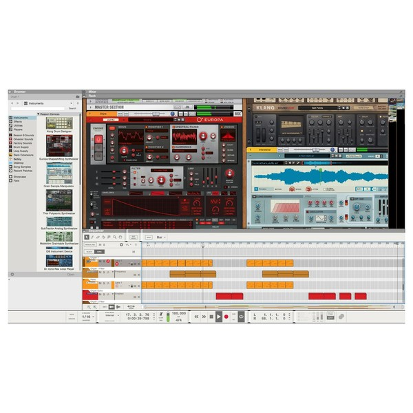 Propellerhead Reason 10 Upgrade - Interface