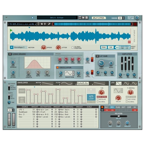 Propellerhead Reason 10 Upgrade from Adapted/Limited - Granualizer