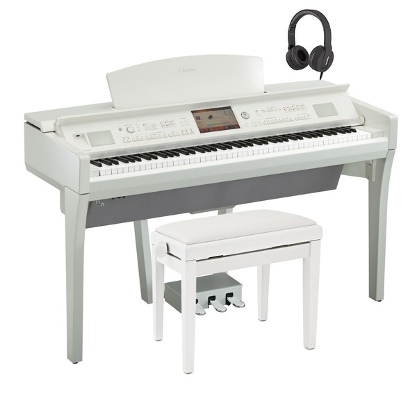 Yamaha CVP 709 Clavinova Digital Piano Pack, Polished White