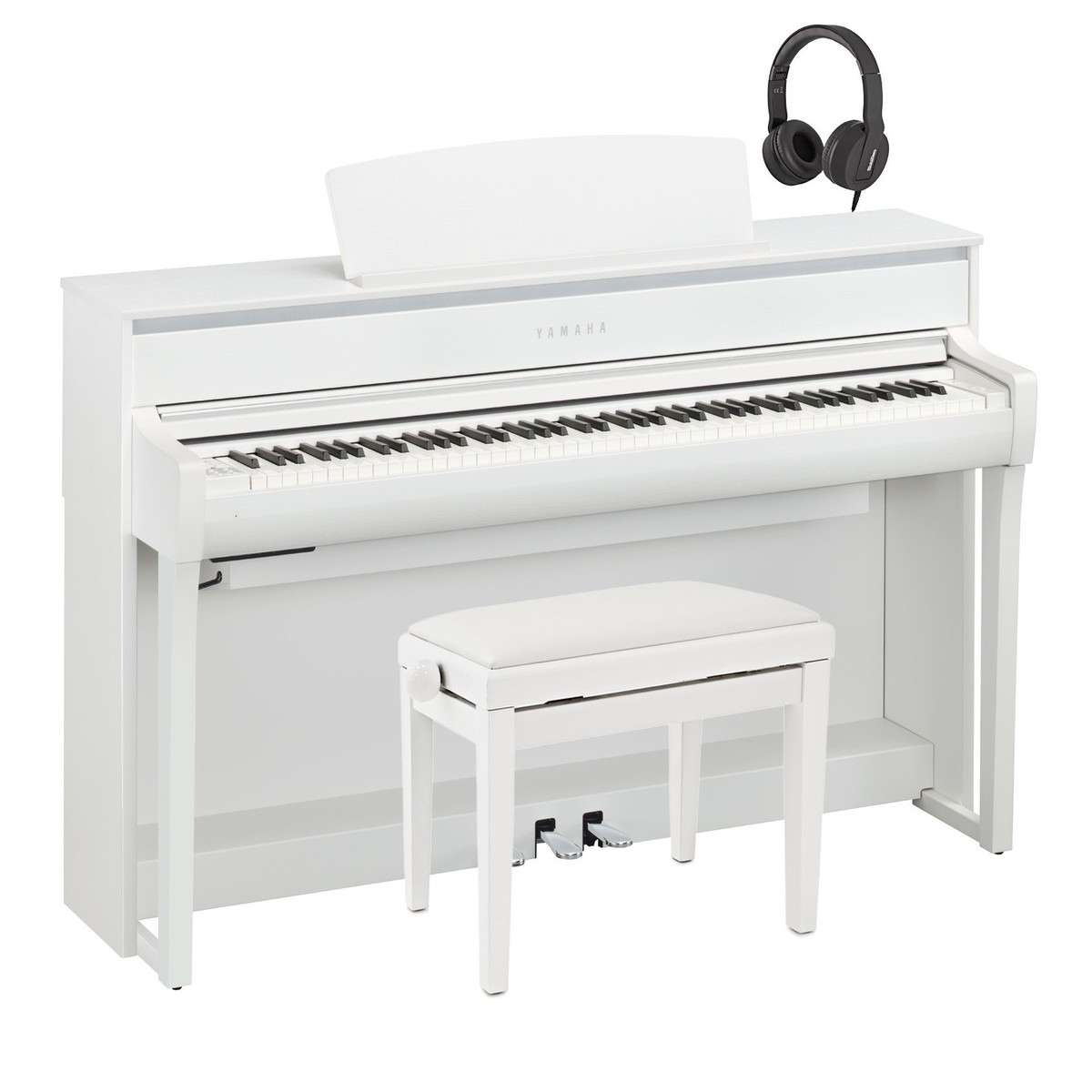 yamaha clp 675 digital piano package white at gear4music. Black Bedroom Furniture Sets. Home Design Ideas