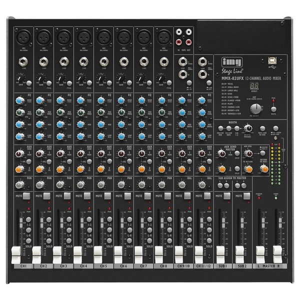 IMG Stageline MMX-82UFX 10-Channel Audio Mixer 1