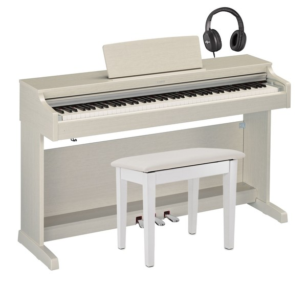 Yamaha YDP 163 Digital Piano Package, White Ash