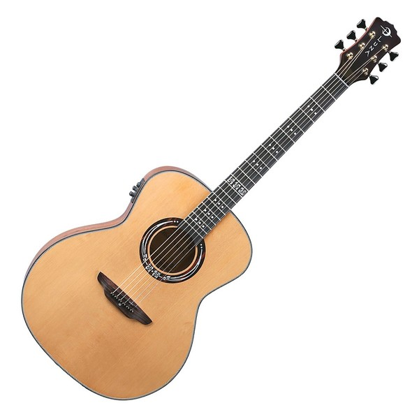 Luna Art Craftsman Inspired Electro Acoustic Guitar, Natural Front View