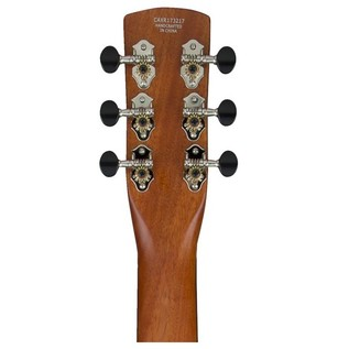 Gretsch G9210 Boxcar Resonator, Square Neck, Natural headstock rear view
