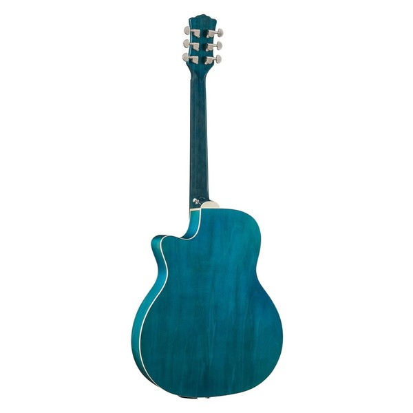 Luna Fauna Dragonfly Electro Acoustic Guitar, Quilted Maple Back View