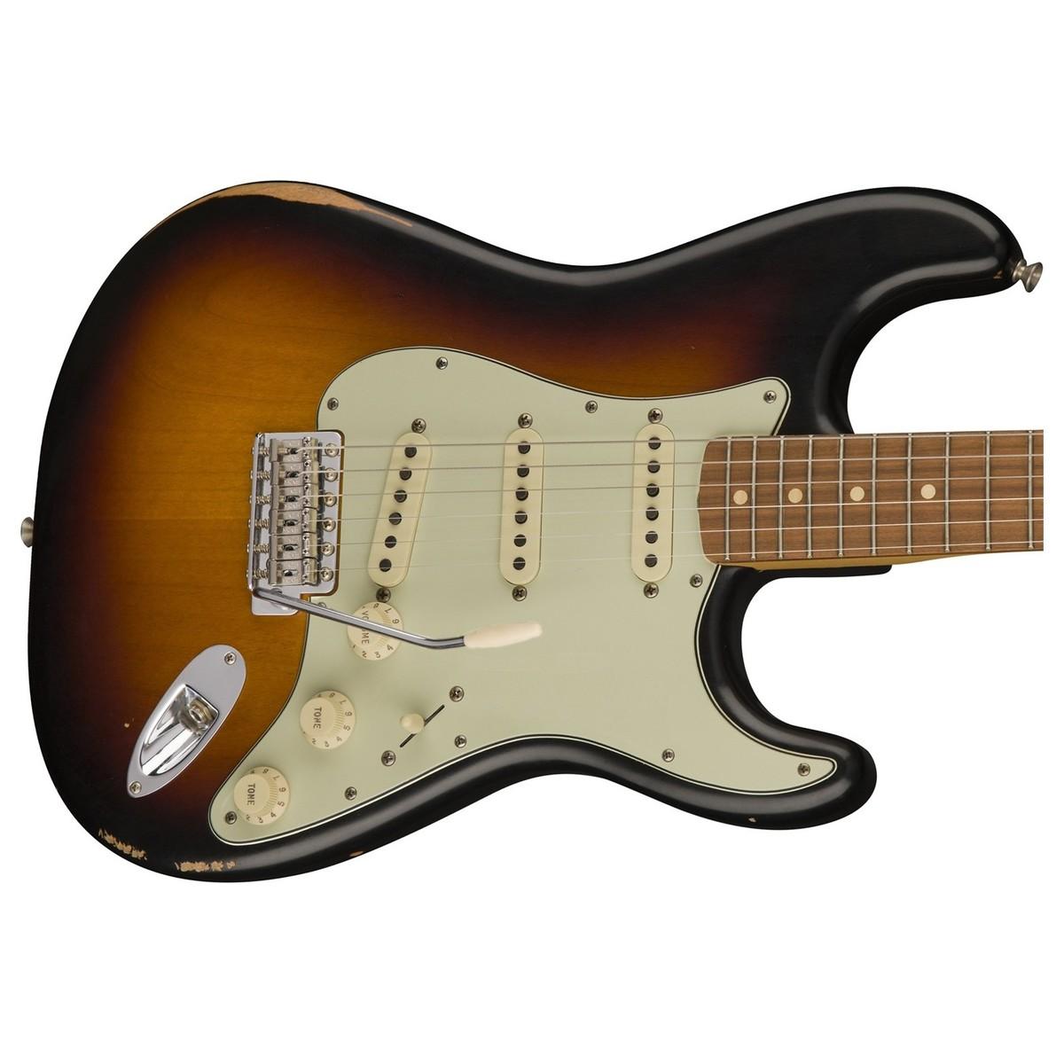 disc fender road worn 60s stratocaster 3 tone sunburst at gear4music. Black Bedroom Furniture Sets. Home Design Ideas
