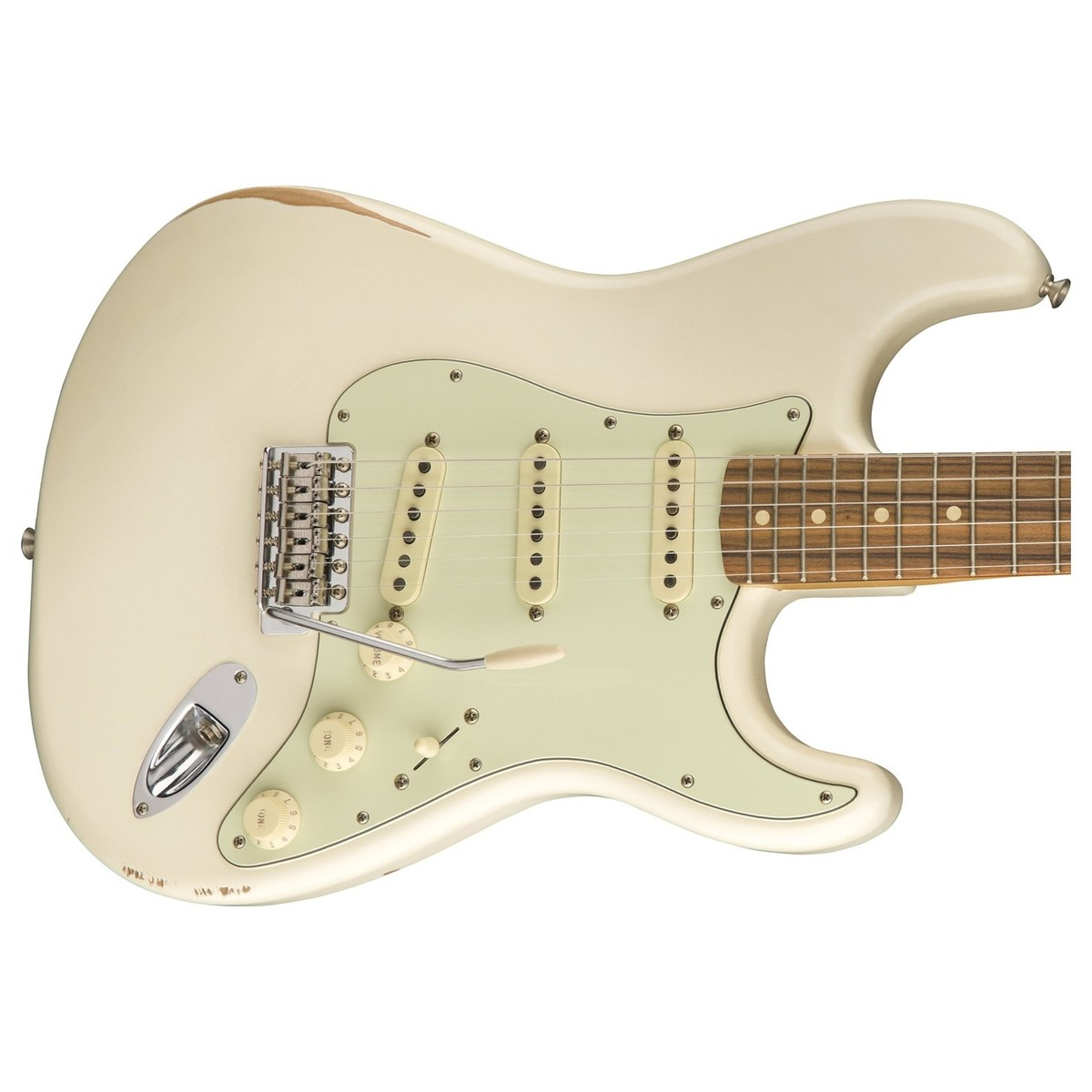 disc fender road worn 60s stratocaster olympic white at gear4music. Black Bedroom Furniture Sets. Home Design Ideas