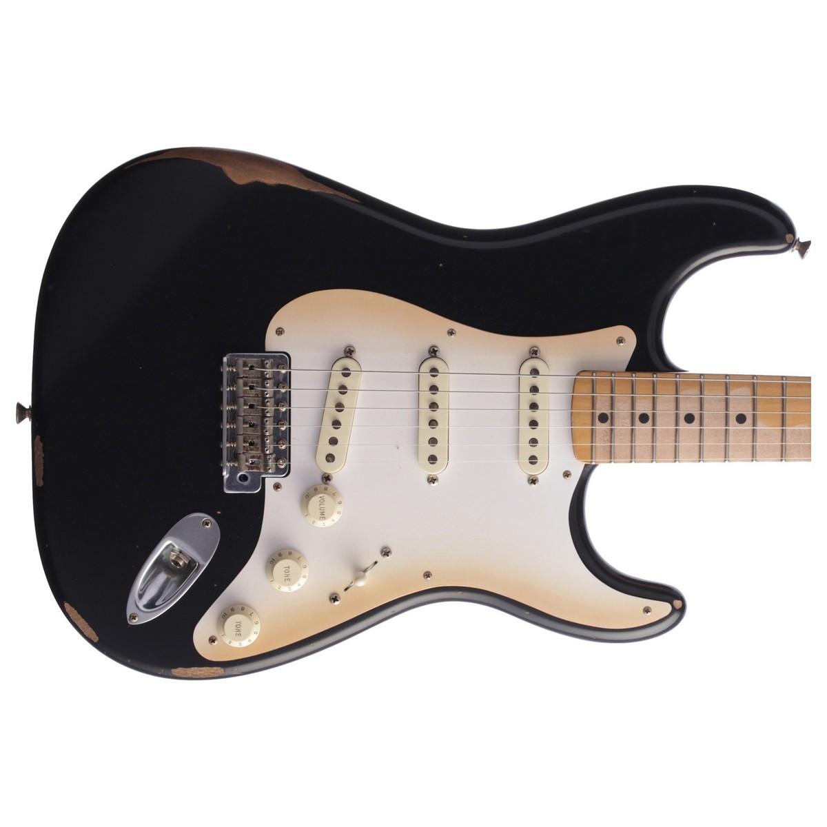 fender road worn 50s stratocaster mn black at gear4music. Black Bedroom Furniture Sets. Home Design Ideas