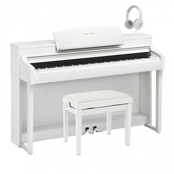 Yamaha Clavinova CSP 150 Digital Piano Pack, Satin White