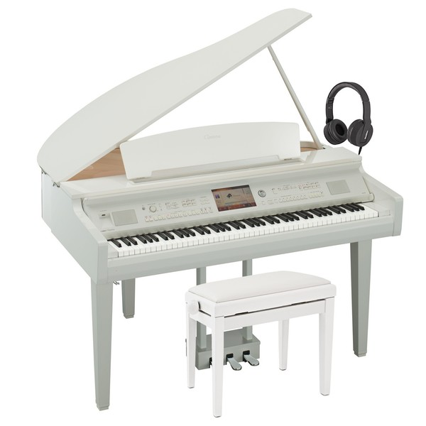 Yamaha CVP 709 Clavinova Digital Grand Piano Pack, Polished White