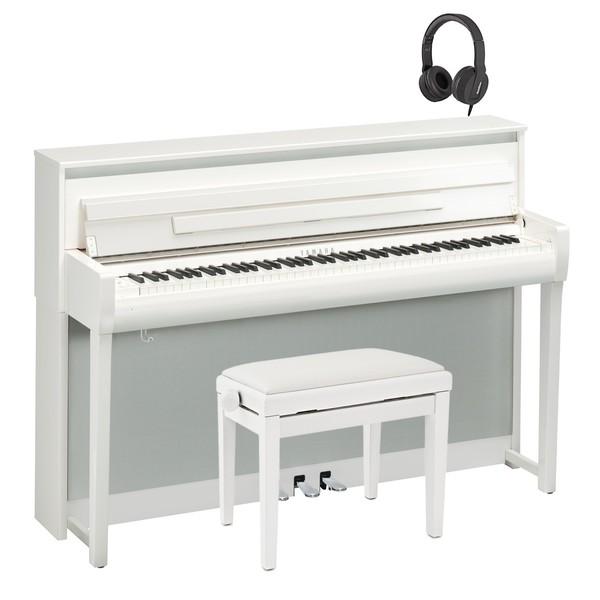 Yamaha CLP 685 Digital Piano Package, Polished White