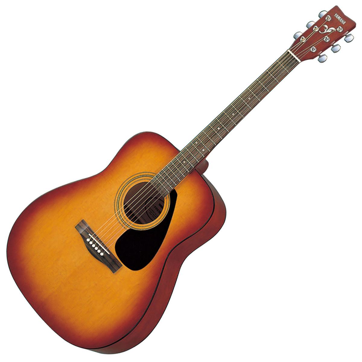 Yamaha f310 acoustic guitar tobacco brown sunburst box for Acoustic yamaha guitar