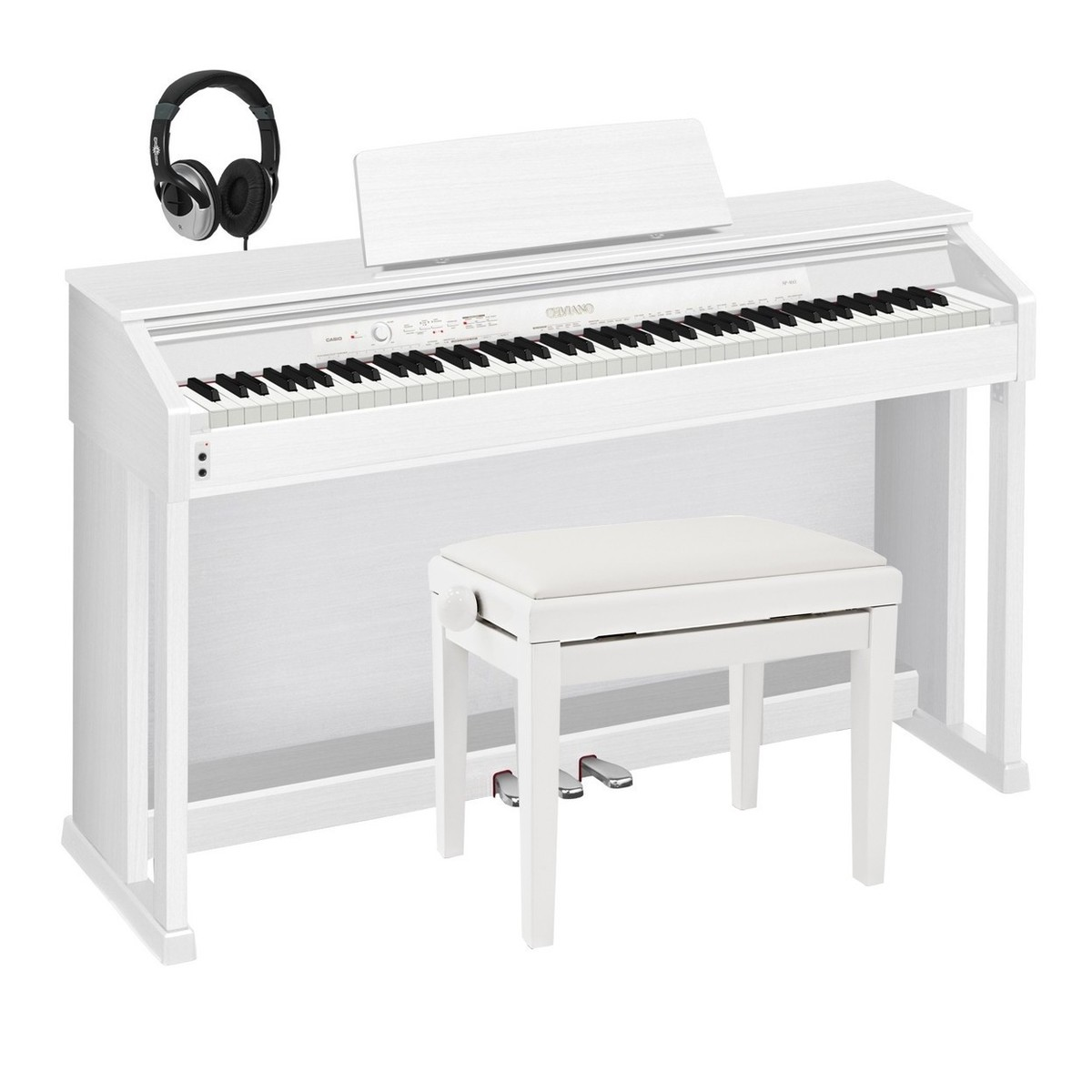 casio celviano ap 460 digital piano white with stool and headphones at gear4music. Black Bedroom Furniture Sets. Home Design Ideas