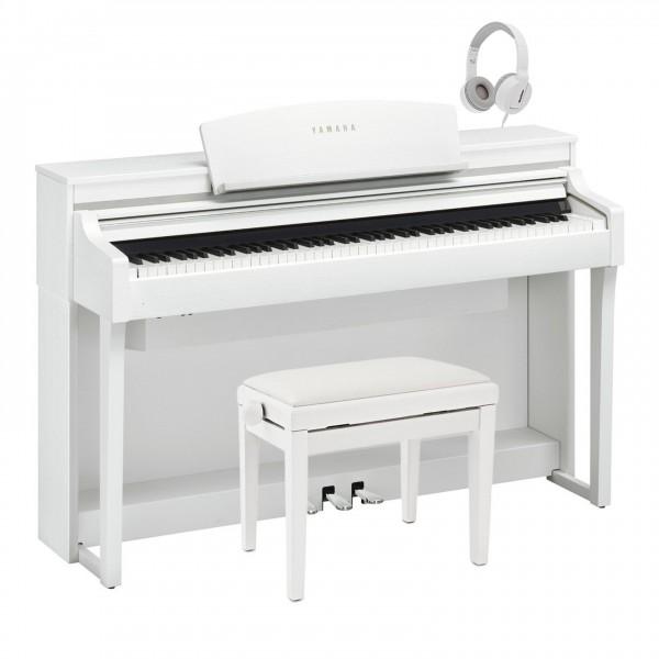 Yamaha Clavinova CSP 170 Digital Piano Pack, Satin White