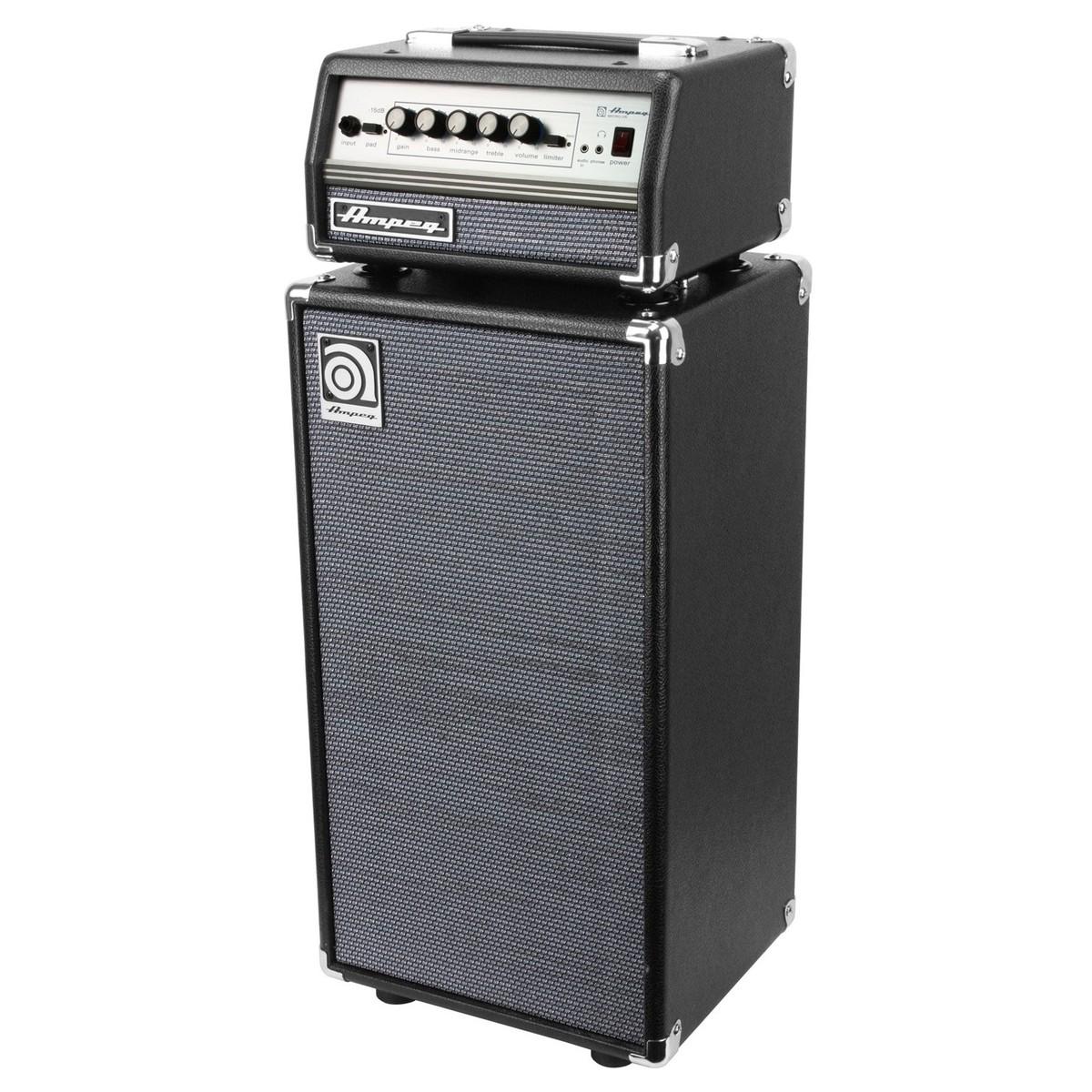 ampeg svt micro vr t te d 39 ampli et baffle pour basse. Black Bedroom Furniture Sets. Home Design Ideas