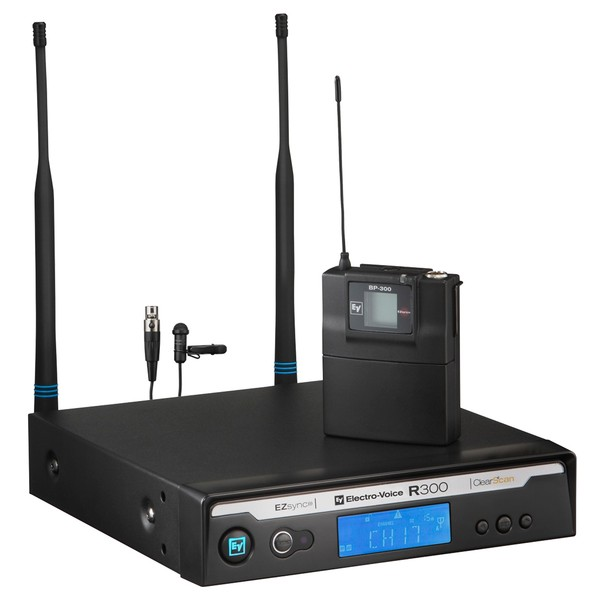 Electro-Voice R300 Wireless Lavalier Microphone System, Channel 69-70