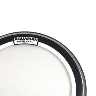 Aquarian Super Kick I Single Ply Clear 18