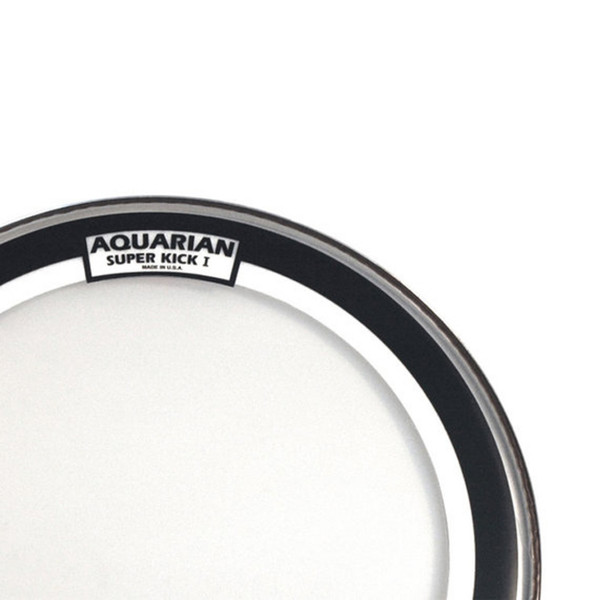 "Aquarian Super Kick I Single Ply Clear 18"" Bass Drum Head"