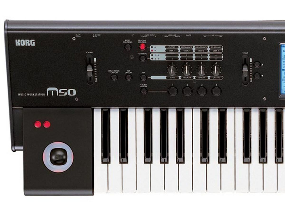 korg m50 73 key music workstation used at gear4music. Black Bedroom Furniture Sets. Home Design Ideas