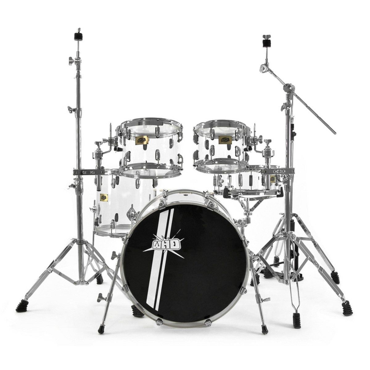 disc whd acrylic drum kit crystal clear at. Black Bedroom Furniture Sets. Home Design Ideas