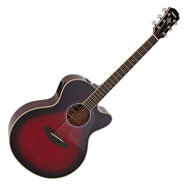 Yamaha CPX700II Electro Acoustic Guitar, Dusk Sun Red