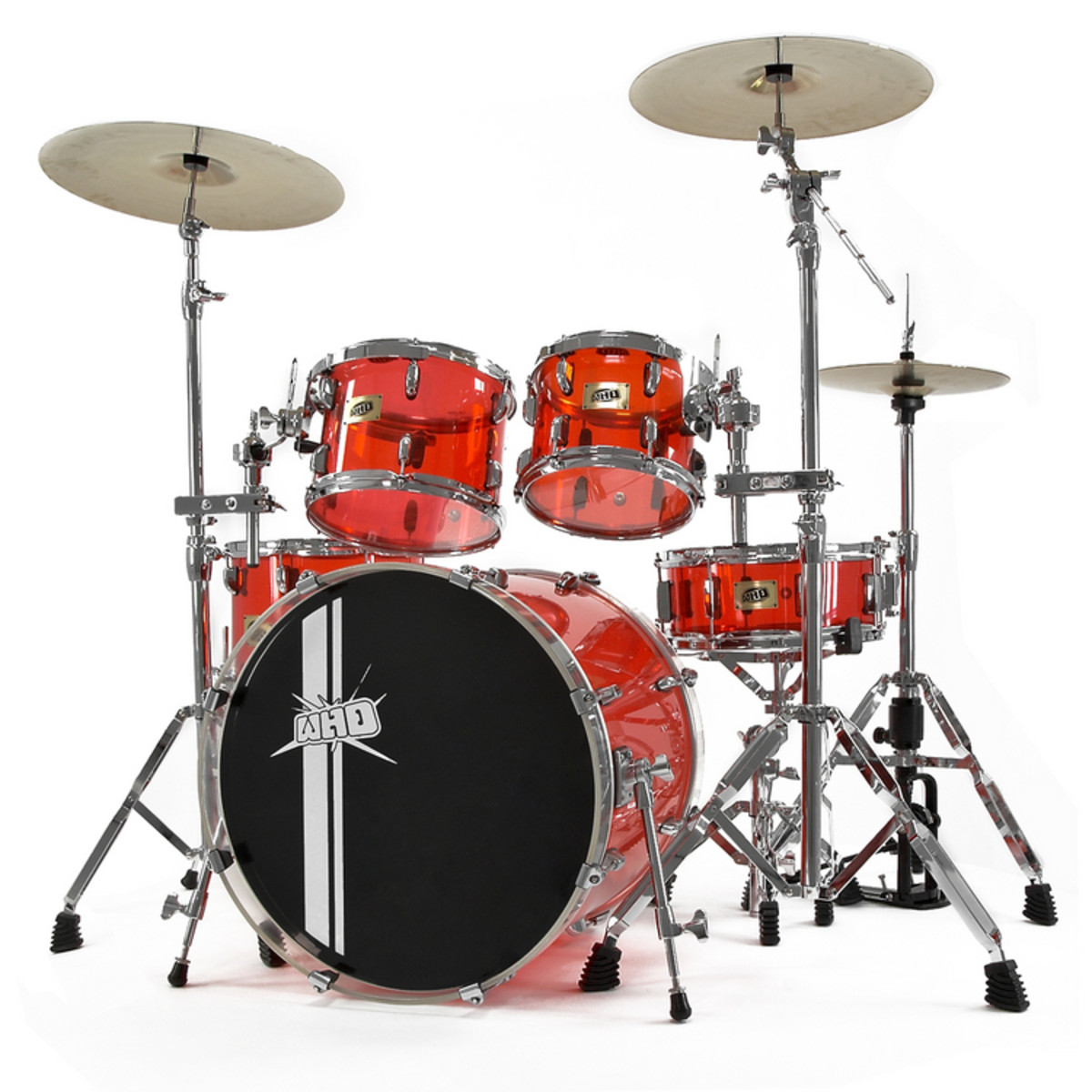 disc whd acrylic drum kit clear crimson zildjian zhtp4p pack at. Black Bedroom Furniture Sets. Home Design Ideas