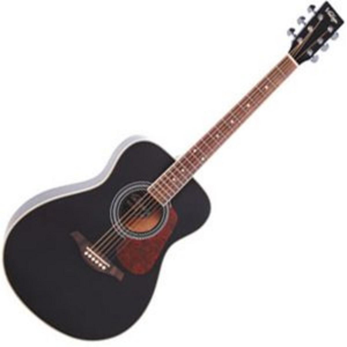 vintage ve300 electro acoustic guitar black at gear4music. Black Bedroom Furniture Sets. Home Design Ideas
