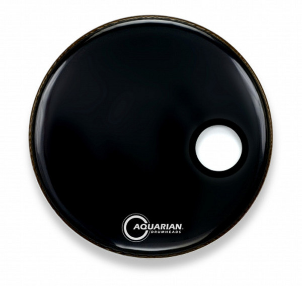 "Aquarian Classic 18"" Front Head with 4.25"" Port, Black Gloss"