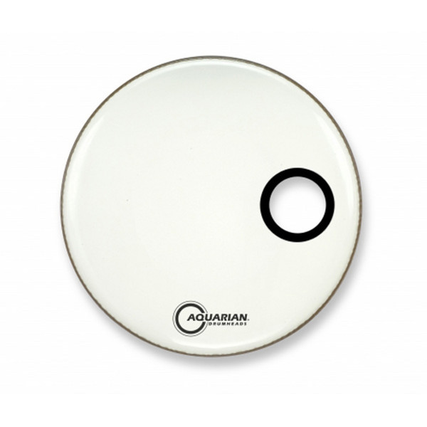 "Aquarian Classic 18"" Front Head with 4.25"" Port, White Gloss"