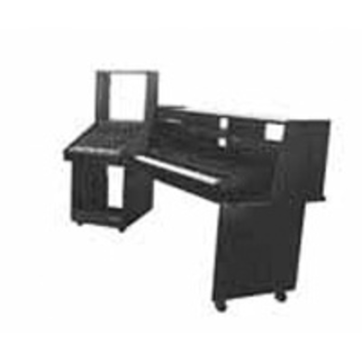 Omnirax Wda Angled Workstation Desk At Gear4music