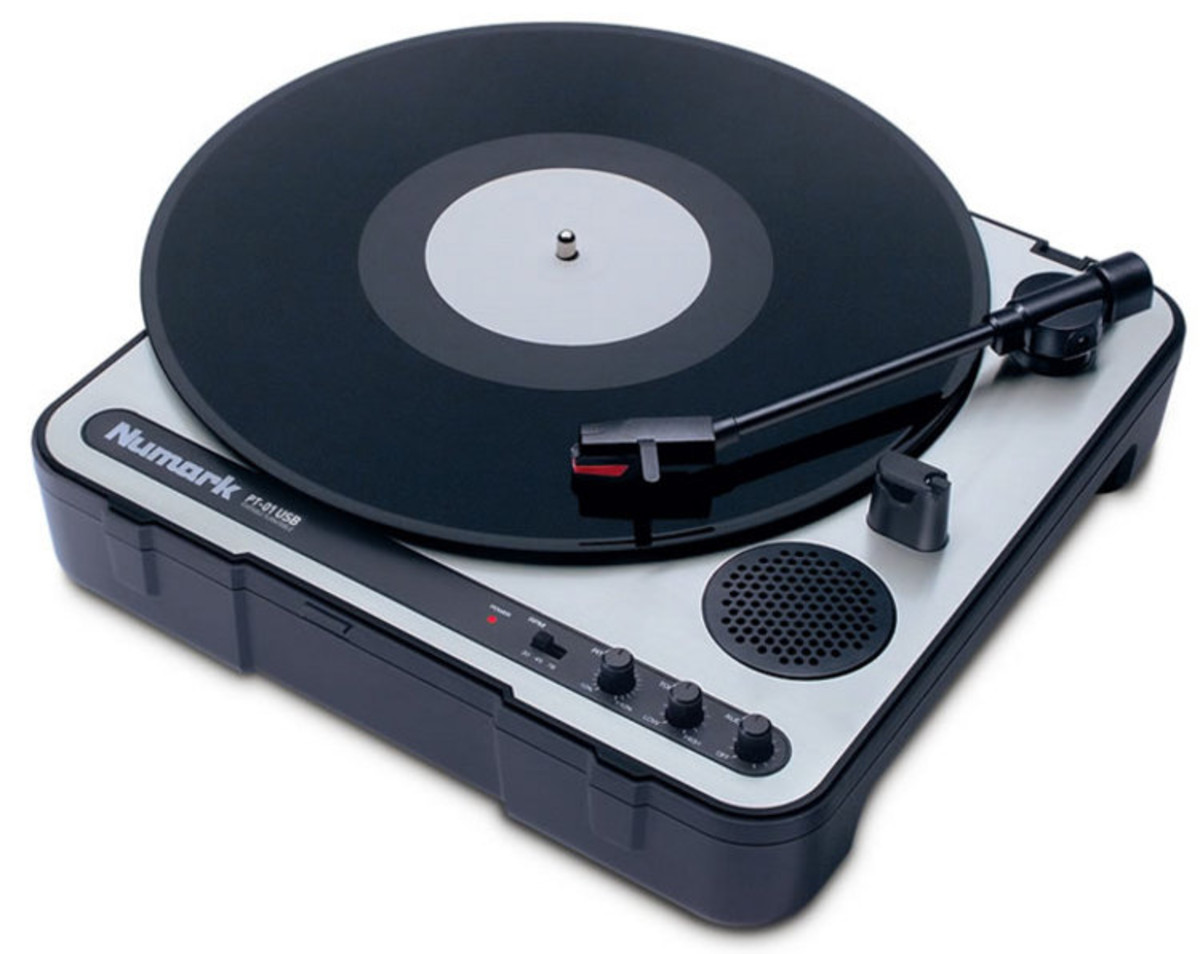 Numark Pt 01usb Portable Vinyl Archiving Turntable Ex