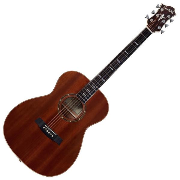 Hagstrom Mora Concert Acoustic Guitar, Mahogany Gloss