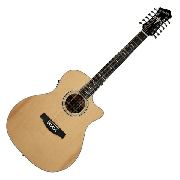 Hagstrom Siljan Grand Auditorium 12-String Electro Acoustic, Natural - Front View