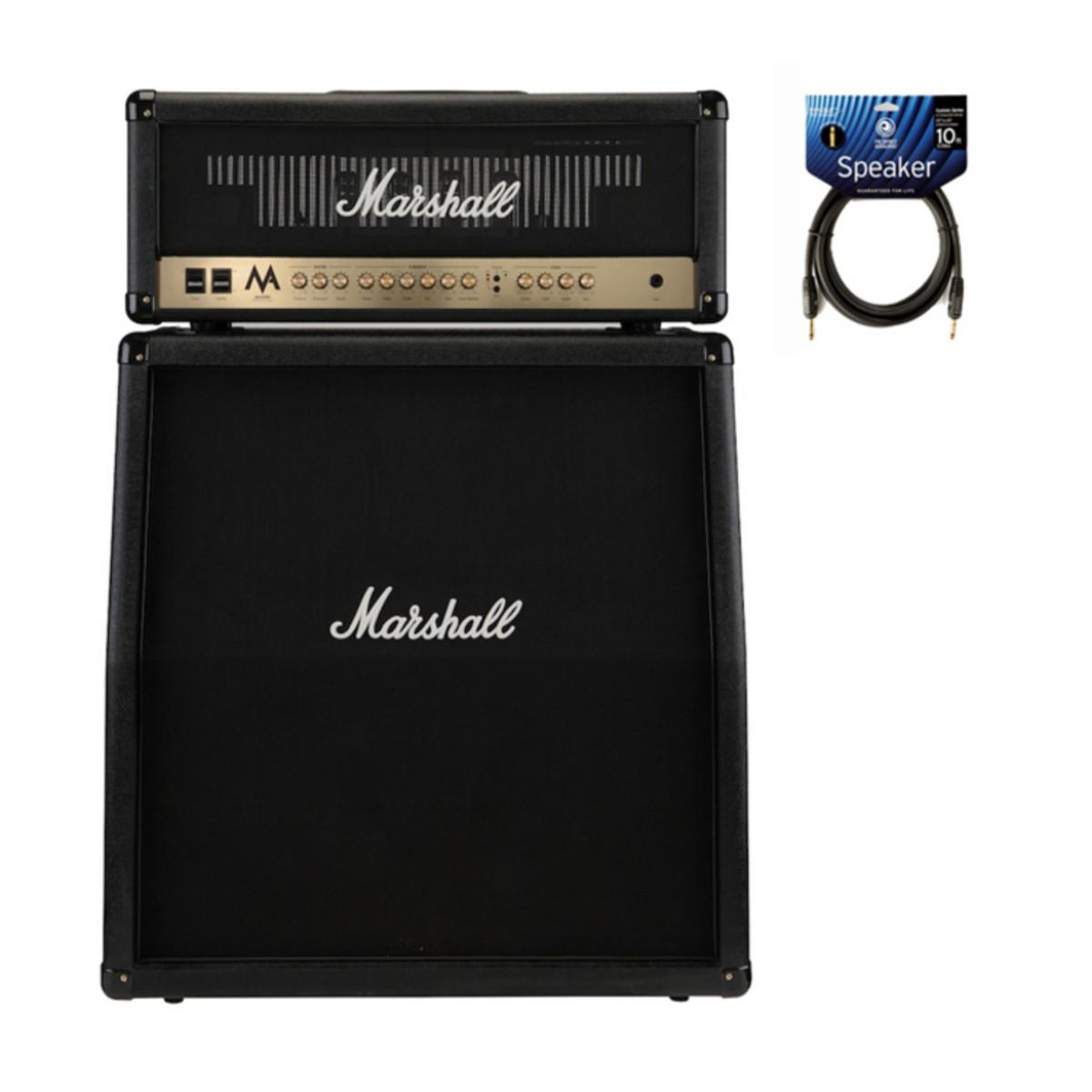 Marshall MA100H Valve Amp Head & Cabinet Half Stack Bundle at ...