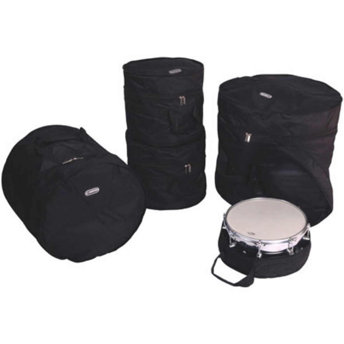 Click to view product details and reviews for Kinsman Deluxe 5 Piece Drum Set Bags.