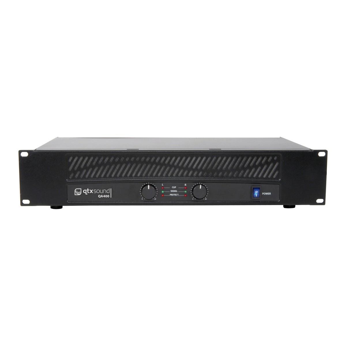 Qtx Qa400 400w Power Amp At Gear4music Audio Amplifier Schema And Layout