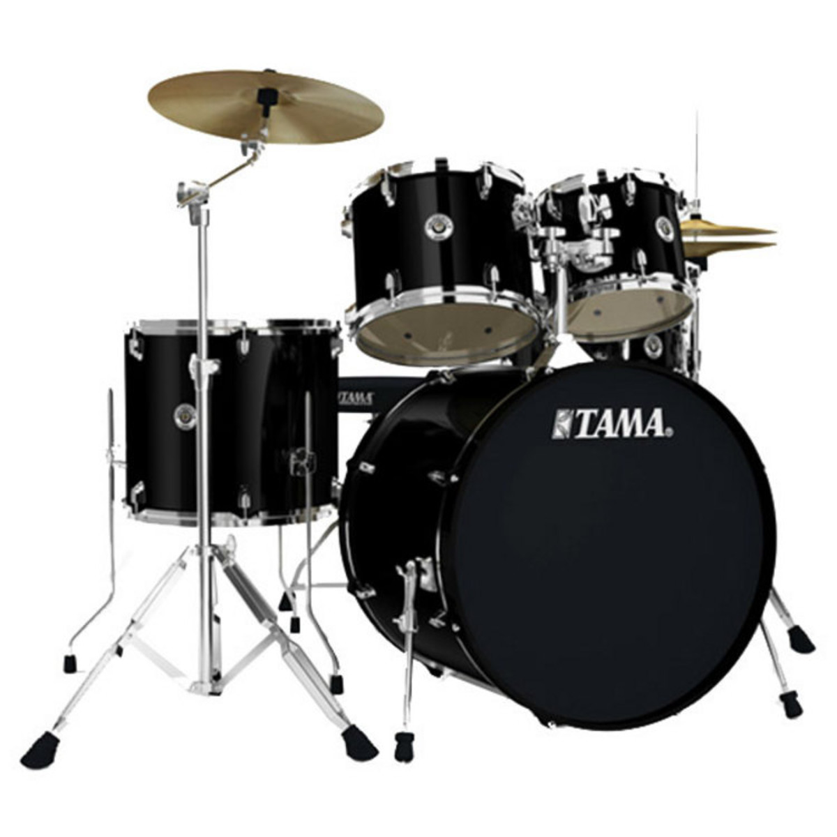 disc tama swingstar 5 piece drum kit black at. Black Bedroom Furniture Sets. Home Design Ideas