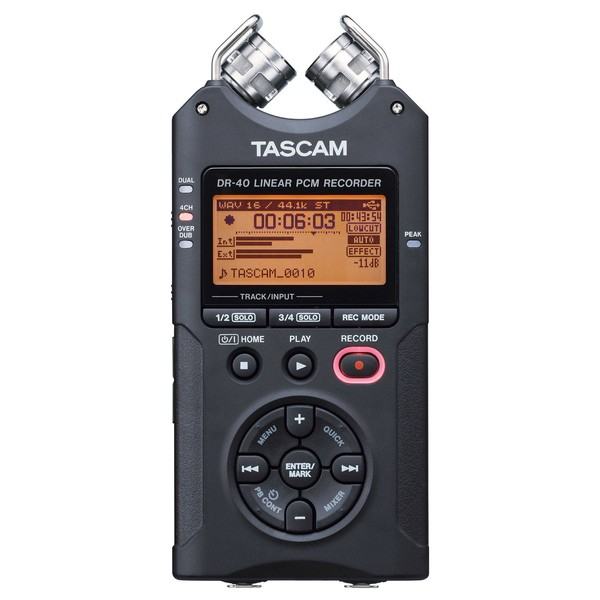 Tascam DR-40 Digital Portable Recorder - Front