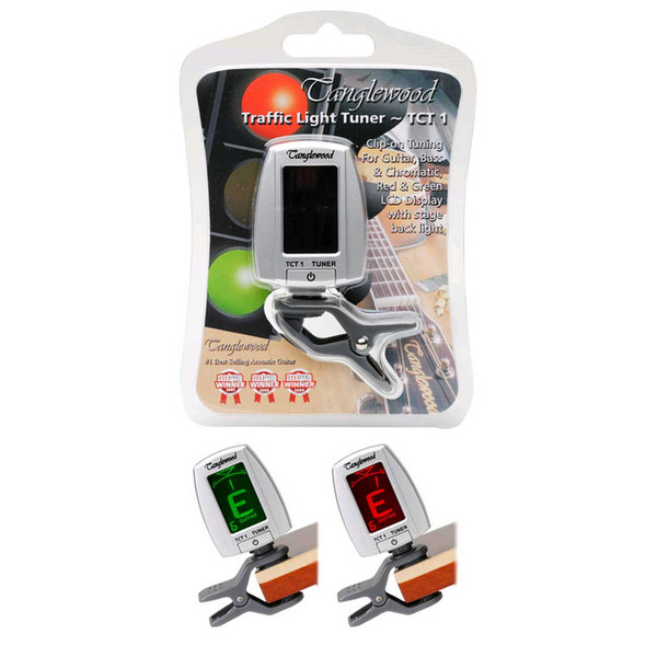 Tanglewood TCT1 'Traffic Light' Digital Clip on Tuner