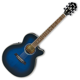 Ibanez AEG10E Electro Acoustic Guitar Trans Blue