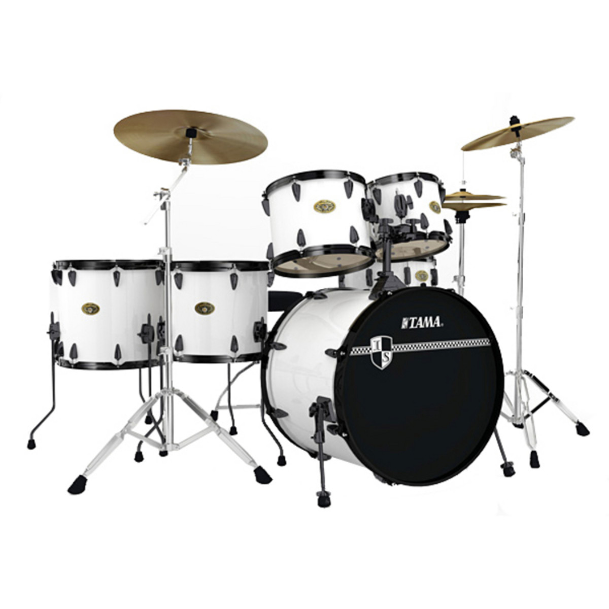 disc tama imperialstar limited edition 22 drum kit sugar white at gear4music. Black Bedroom Furniture Sets. Home Design Ideas