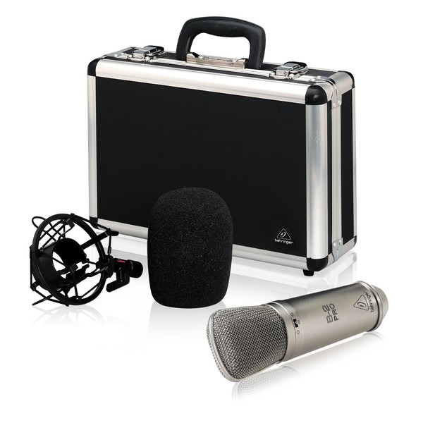 Behringer B-2 Pro Condenser Microphone, Set with Case, Shock Mount, and Pop Shield