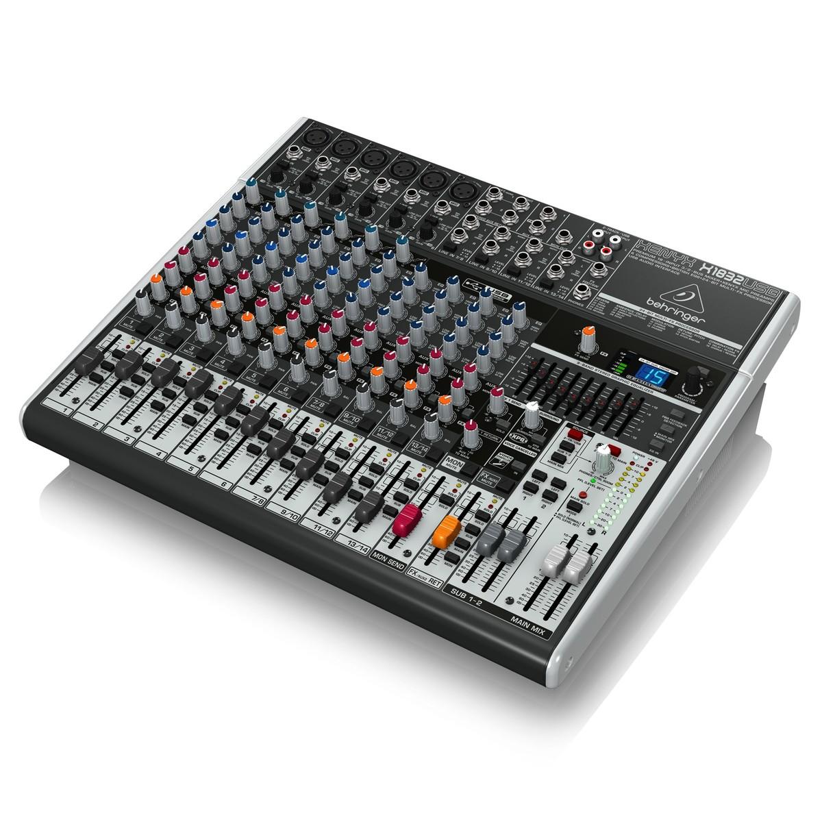 Behringer xenyx x1832usb mesa de mezclas en for Mesa de mezclas fonestar