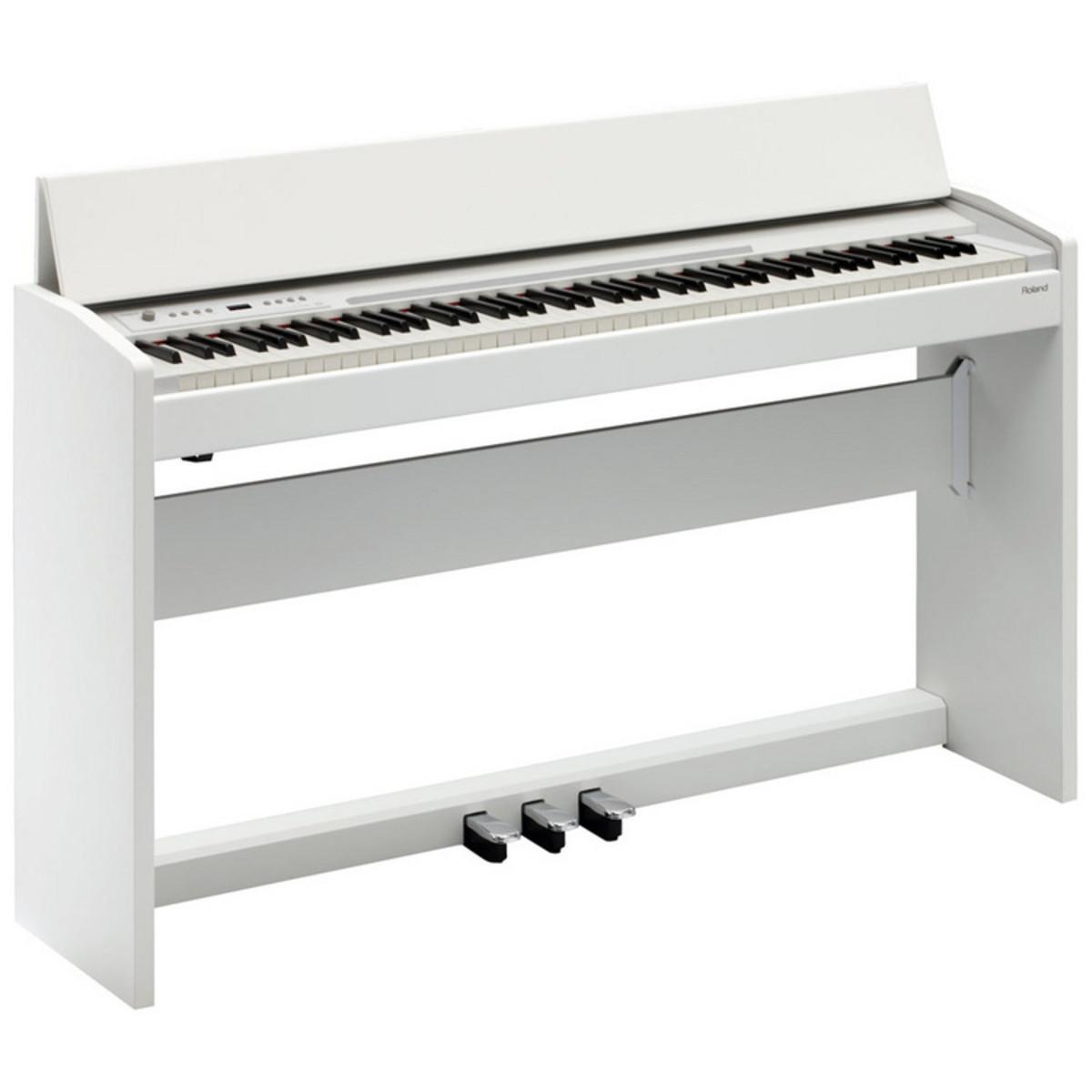 roland f 120 piano num rique blanc satin. Black Bedroom Furniture Sets. Home Design Ideas