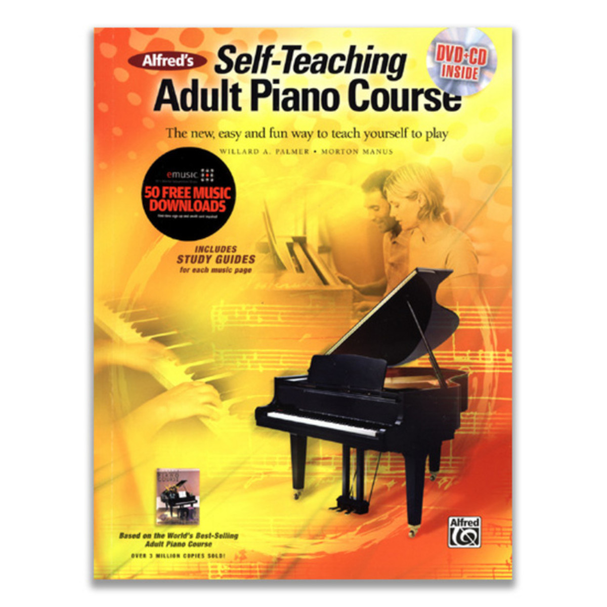 Self Teaching Adult Piano Course Book Dvd
